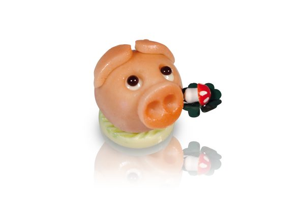 Marzipan-Kugelschweinchen